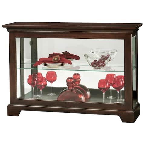 Howard Miller Underhill III Brown 2-Shelf Living Room Curio Cabinet