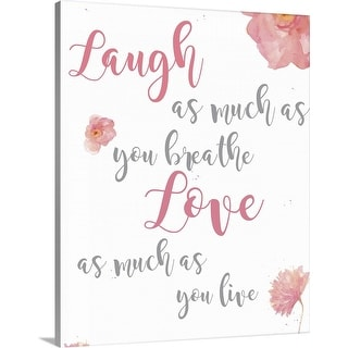 """""""Laugh and Love"""" Canvas Wall Art"""
