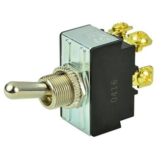 BEP Marine Chrome Plated Toggle Switch - Off / On DPST Chrome Plated Toggle Switch - OFF/ON