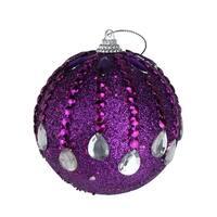 "Pack of 6 December Diamonds Magenta Shatterproof Ball Ornaments 3.75"" - PURPLE"