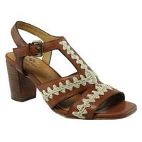 PatriciaNash Womens F081137 Tan Ankle Strap Sandals Size 7