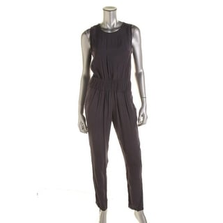 Rachel Roy Womens Jumpsuit Textured Sleeveless - L