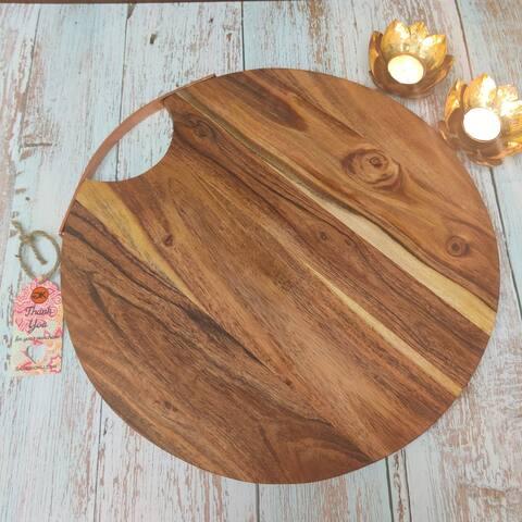 "GAURI KOHLI Julchen Wood Serving Board(14"") - 14.0"" X 14.0"""