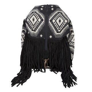 Scully Western Backpack Womens Fringe Aztec Double Strap Black B158