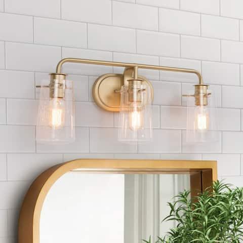 "Glam 3-light Bathroom Vanity Lights Gold Wall Sconce for Powder Room - 23.6"" * 7.1"" * 9.8"""
