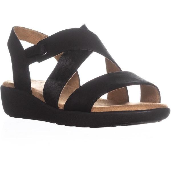 Easy Spirit Kalani2 Ankle Strap Sport Sandals, Black