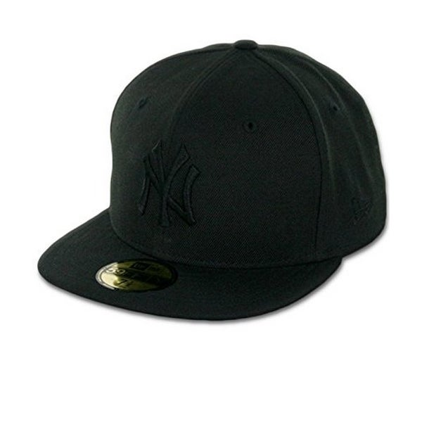 wholesale dealer 7df8c 8540f ... shop mlb new york yankees black on black 59fifty fitted cap 7 3 4 7 3