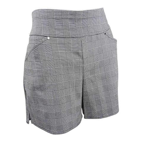 INC International Concepts Women's Plaid Pull-On Shorts (10, Plaid) - 10