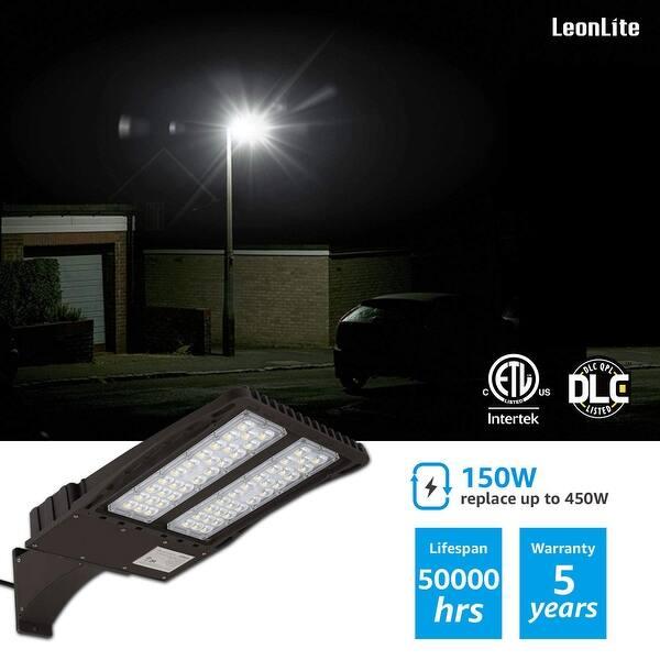 Shop Leonlite 150w Led Parking Lot Light Arm Mount Area
