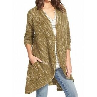 Sun & Shadow NEW Green Women's Size Small S Cardigan Striped Sweater