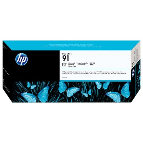 HP 91 775-ml Photo Black DesignJet Pigment Ink Cartridge (C9465A) (Single Pack)