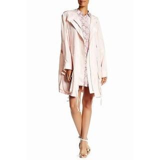 Equiptment Pink Women's Size XS Short Boven Parka Jacket Silk