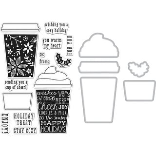 Hero Arts Clear Stamp & Die Combo-Coffee Cup