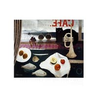 ''The Black Cat Cafe'' by Mary Fedden Food Art Print (23.5 x 31.5 in.)