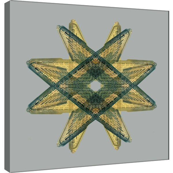 """PTM Images 9-101282 PTM Canvas Collection 12"""" x 12"""" - """"Flatiron Medallion 1"""" Giclee Abstract Art Print on Canvas"""