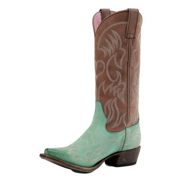 Miss Macie Western Boot Women Pure Prairie Snip Turquoise