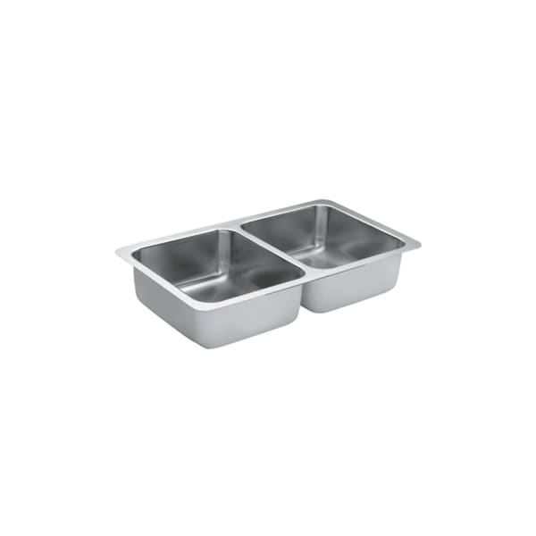 "Moen G18215 30"" Double Basin Undermount Stainless Steel Kitchen Sink with SoundSHIELD from the 1800 Series Collection"