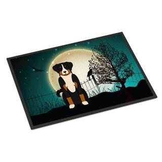 Carolines Treasures BB2233JMAT Halloween Scary Appenzeller Sennenhund Indoor or Outdoor Mat 24 x 0.25 x 36 in.