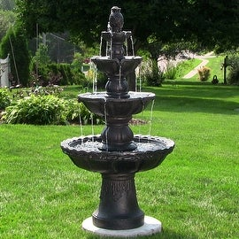 Sunnydaze 4 Tier Pineapple Fountain, 52 Inch Tall
