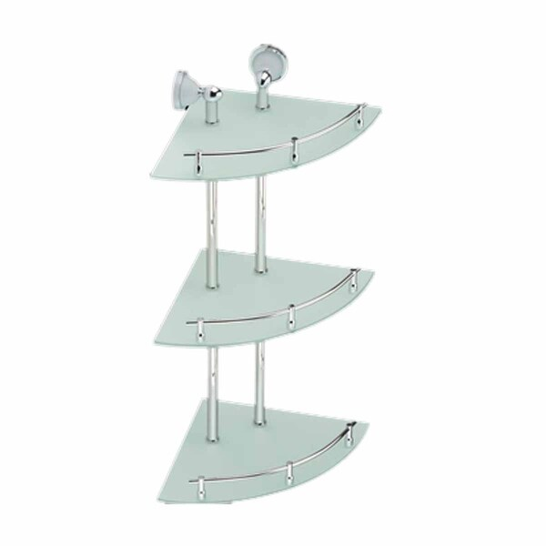 Corner Glass Shelf Triple Tiers Frosted Wall Storage Holder | Renovator's Supply