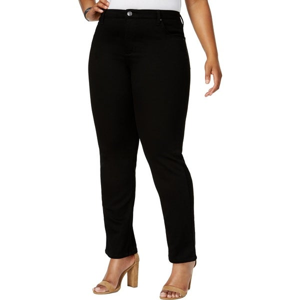 Lee Womens Plus Classic Straight Jeans Straight Classic Fit