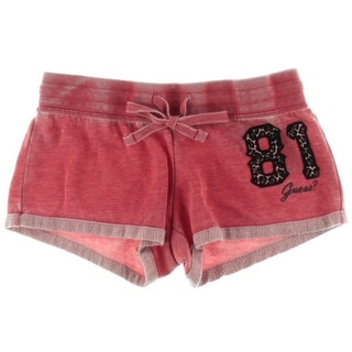 Guess Womens Stretch Graphic Casual Shorts - S