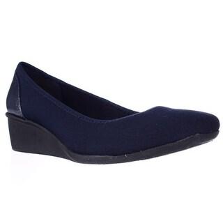 Anne Klein Wisher Wedge Pump Heels, Navy Multi
