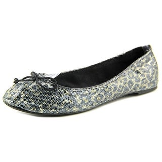 French Follies Edie Women Round Toe Canvas Flats