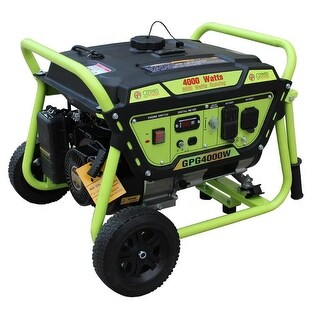 Green Power 4000-Watt Gas Powered Portable Generator with LCT Engine