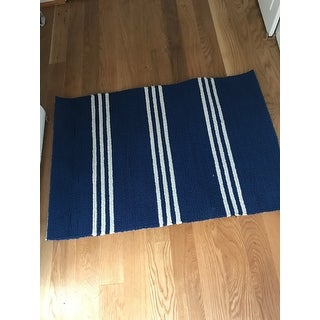Momeni Veranda Maritime Blue Stripes Indoor/Outdoor Rug - 2' x 3'