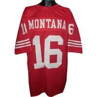 Joe Montana unsigned Red TB Custom Stitched Pro Style Football Jersey XL