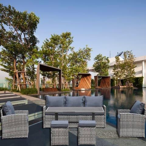 Moda Stylish Outdoor 6-Piece KD PE Rattan Sofa Set