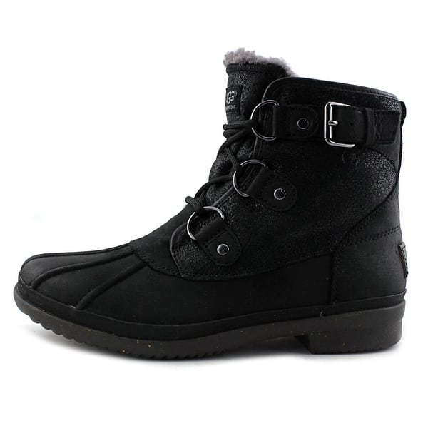 ae946fbb2ed Shop Ugg Australia Cecile Women Round Toe Leather Black Winter Boot ...