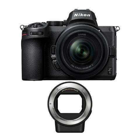 Nikon Z5 Mirrorless Camera w/NIKKOR Z 24-50mm Lens & FTZ Mount Adapter