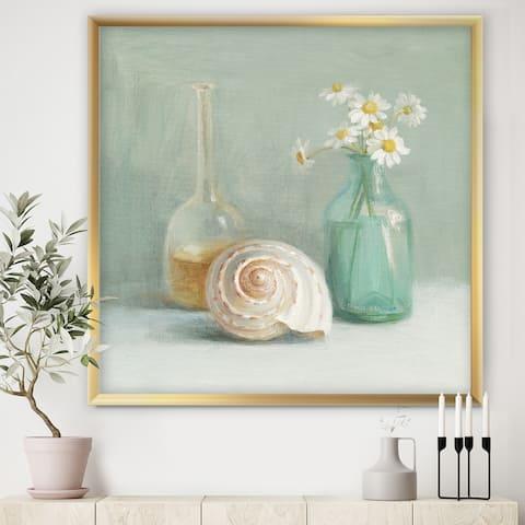 Designart 'Pastel Bath III' Nautical & Beach Framed Art Print