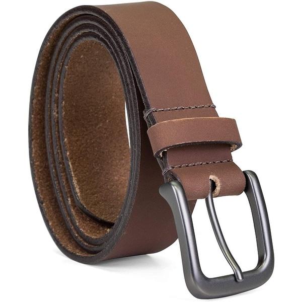 756728 MSBLT20 Men/'s Belt Size 34 Dark Brown Leather Johnston /& Murphy