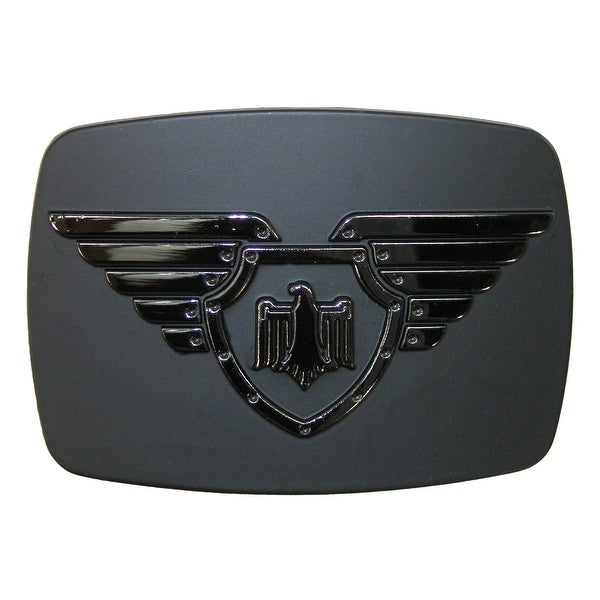 Chrome Winged Shield and Eagle Belt Buckle