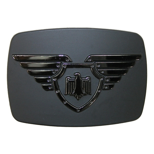 Chrome Winged Shield and Eagle Belt Buckle - One size