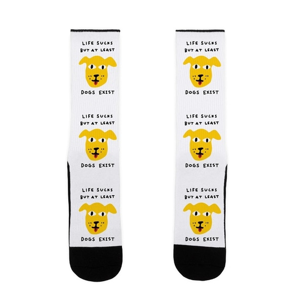Life Sucks But At Least Dogs Exist US Size 7-13 Socks by LookHUMAN