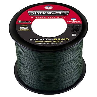 Spiderwire Stealth Braid Fishing Line (3,000 yds) - 15 lb Test - Moss Green