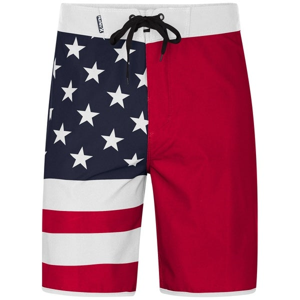 7d397dedb7827 Shop Hurley NEW Red Blue Mens Size 40 American Flag Board Surf Shorts -  Free Shipping On Orders Over $45 - Overstock - 21164891