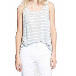 Vince NEW Gray Women's Medium M Striped Loose Fit Tank Cami Top
