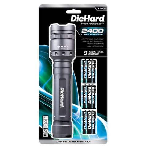 Dorcy DieHard 2400 lumens Gray LED Flashlight AA Battery