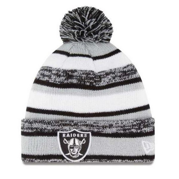 1d4f1d458 Shop New Era Oakland Raiders NFL Stocking Knit Hat Winter Beanie On Field  11008728 - Free Shipping On Orders Over  45 - Overstock - 19113871