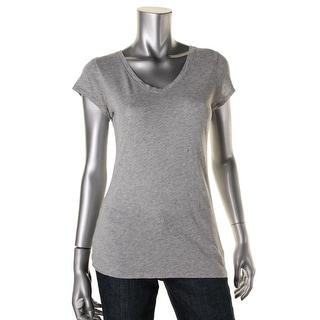 Vince Womens Modal Short Sleeve Casual Top - S
