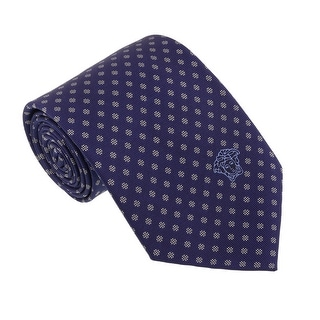 Versace Blue/Silver Woven Dotted Polka Tie
