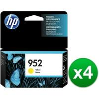HP 952 High Yield Yellow Original Ink Cartridge (L0S55AN)(4-Pack)