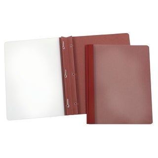 Oxford Clear Front Report Cover with 3 Hole Fastener Insert, 8-1/2 X 11 Inches, Red, Pack of 25