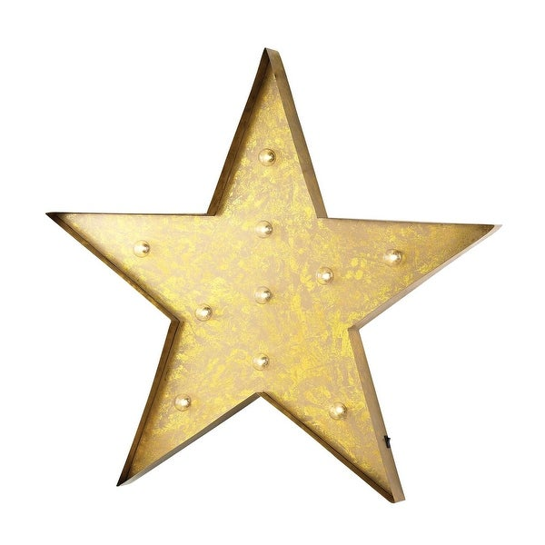 Elk Home 51-034 Star Marquee Sign - Antique Yellow