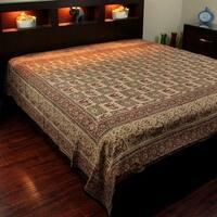 Block Print Tapestry Wall Hanging Elephant Batik Tablecloth Cotton Thin Bedspread Beach Sheet Twin Full